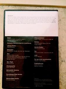 Regie: Nina Kupczyk Philharmonie Luxemburg